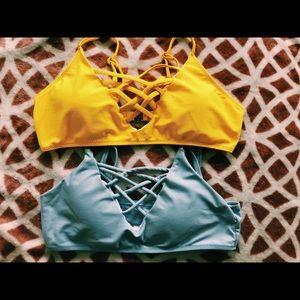 two bikini tops